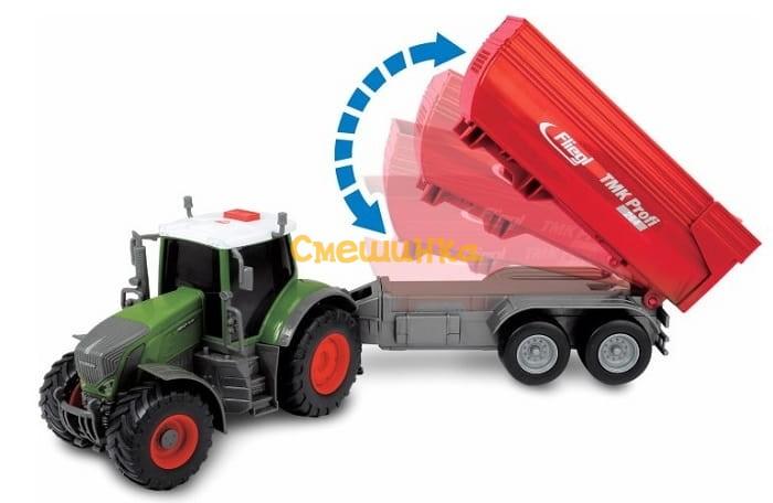 Трактор Dickie Toys Фендт 939 Варио с прицепом со светом и звуком 41 см (3737002) - 3