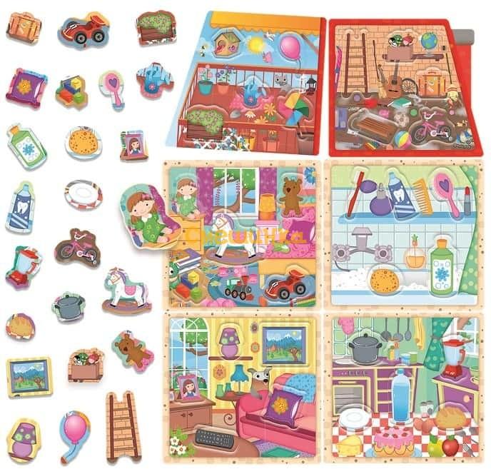 Игра-пазл Монтессори Headu Мой маленький домик (IT20836) - 1