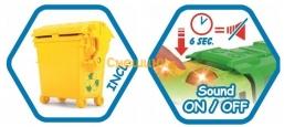 Мусоровоз Dickie Toys Хэппи Скания с контейнером со светом и звуком 25 см (3814015) - 4